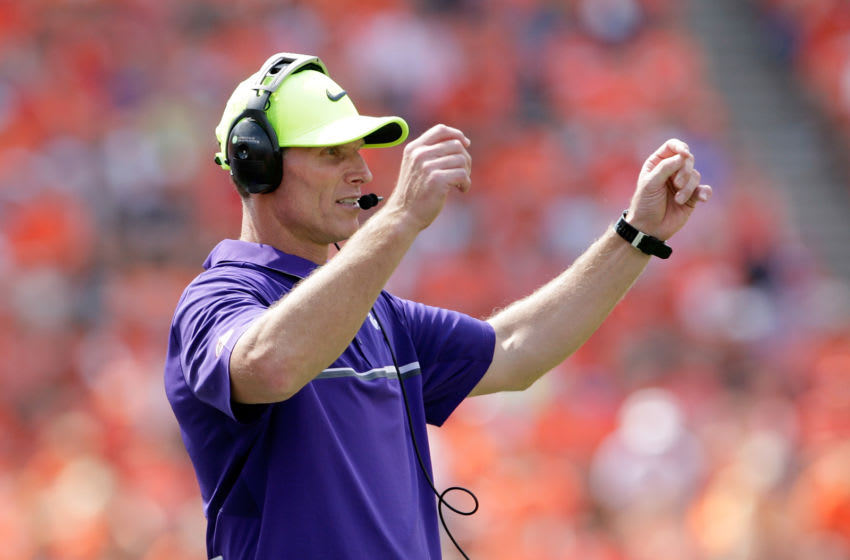CLEMSON, SC - SEPTEMBER 10: Defensive Coordinator Brent Venables of the Clemson Tigers calls out a play during the game against the Troy Trojans at Memorial Stadium on September 10, 2016 in Clemson, South Carolina. (Photo by Tyler Smith/Getty Images)