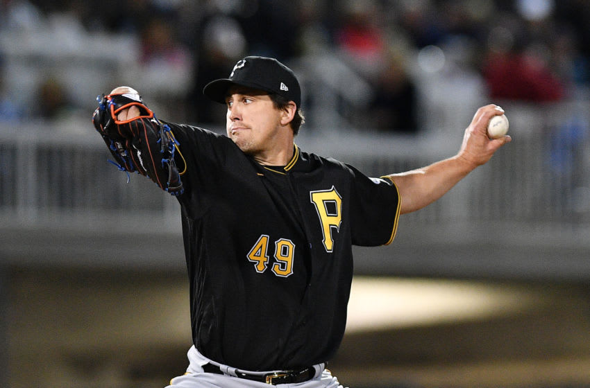 FORT MYERS, FLORIDA - FEBRUARY 29: Derek Holland #49 of the Pittsburgh Pirates delivers a pitch during the spring training game against the Minnesota Twins at Century Link Sports Complex on February 29, 2020 in Fort Myers, Florida. (Photo by Mark Brown/Getty Images)