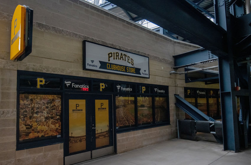PITTSBURGH, PA - JULY 07: A closed concession stand is shown during summer workouts at PNC Park on July 7, 2020 in Pittsburgh, Pennsylvania. (Photo by Justin Berl/Getty Images)