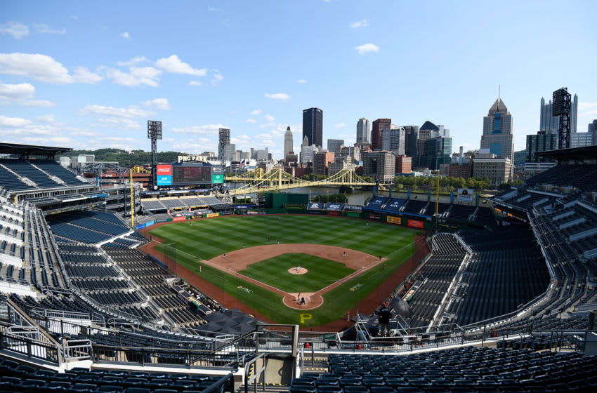PITTSBURGH, PA - SEPTEMBER 06: A general view of the field in the fifth inning during the game between the Pittsburgh Pirates and the Cincinnati Reds at PNC Park on September 6, 2020 in Pittsburgh, Pennsylvania. (Photo by Justin Berl/Getty Images)
