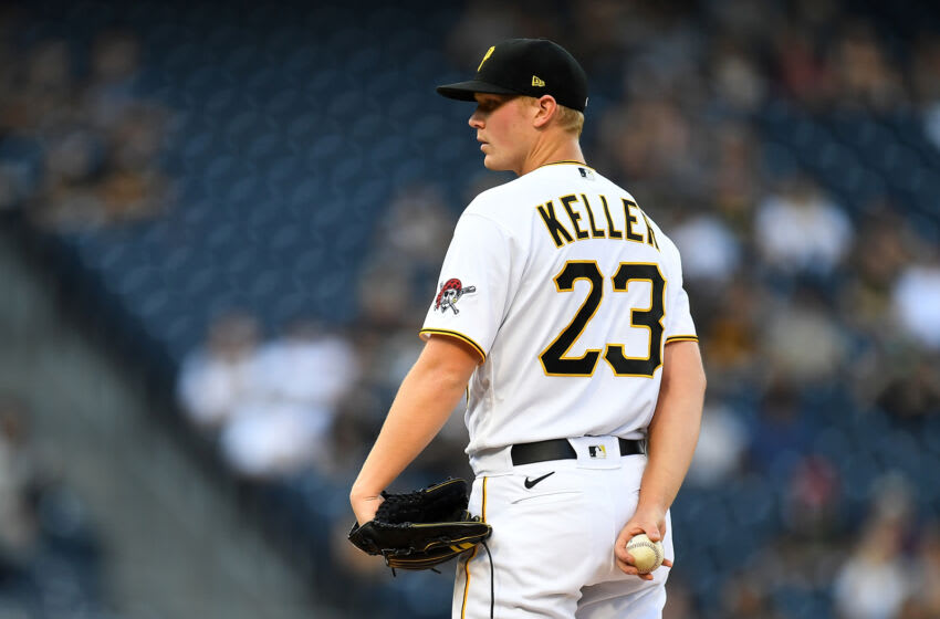 PITTSBURGH, PA - JUNE 04: Mitch Keller #23 of the Pittsburgh Pirates in action during the game against the Miami Marlins at PNC Park on June 4, 2021 in Pittsburgh, Pennsylvania. (Photo by Joe Sargent/Getty Images)