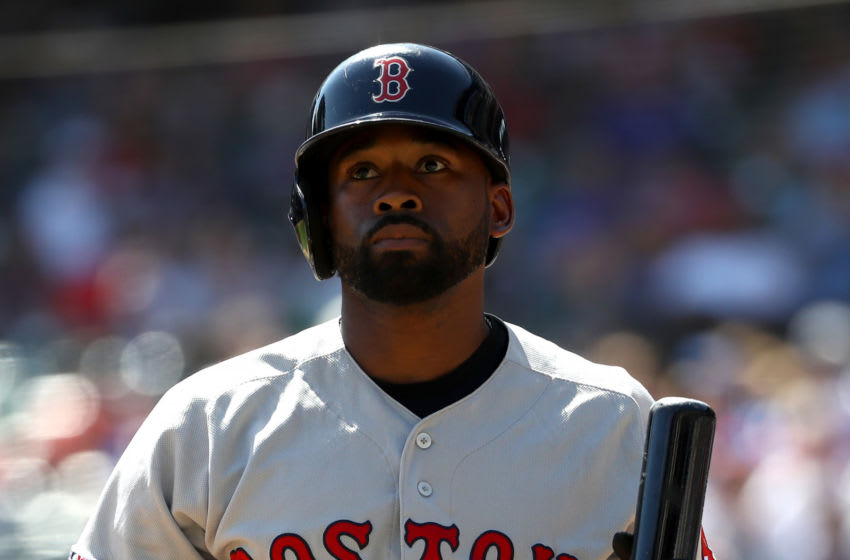 ARLINGTON, TEXAS - SEPTEMBER 26: Jackie Bradley Jr. #19 of the Boston Red Sox at Globe Life Park in Arlington on September 26, 2019 in Arlington, Texas. (Photo by Ronald Martinez/Getty Images)