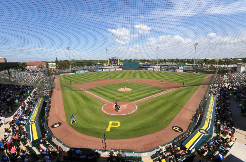 Mar 12, 2020; Bradenton, Florida, USA; A general view of LECOM Park during the spring training home of the Pittsburgh Pirates against the Toronto Blue Jays . Mandatory Credit: Kim Klement-USA TODAY Sports
