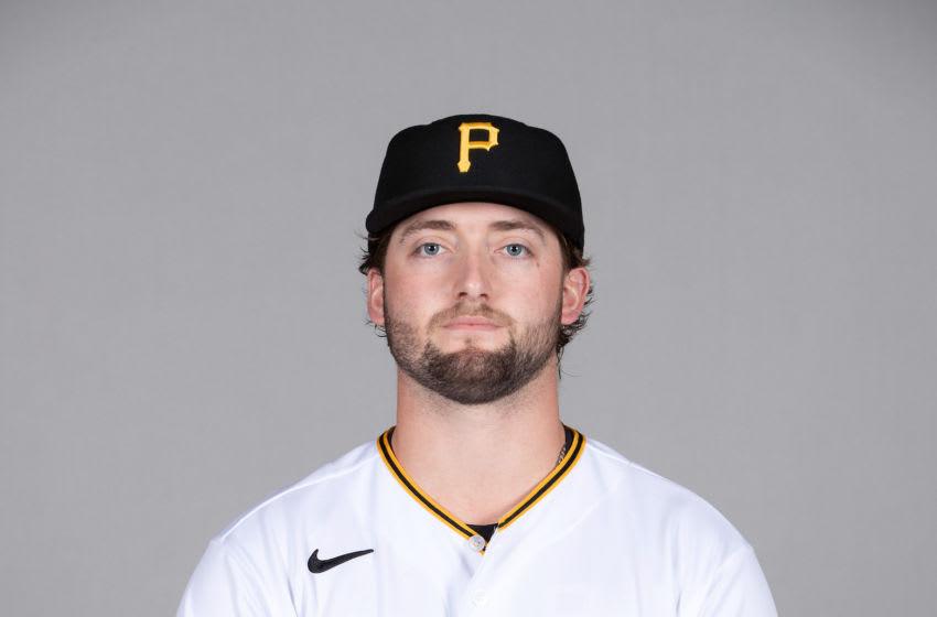 Mar 2, 2021; Sarasota, FL, USA; Pittsburgh Pirates Cody Bolton (78) poses during media day at Ed Smith Stadium. Mandatory Credit: Mike Carlson-USA TODAY NETWORK