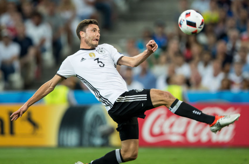 Jonas Hector during the UEFA EURO semi final match between Germany and France at Stade Velodrome on July 7, 2016 in Marseille, France. (Photo by Foto Olimpik/NurPhoto via Getty Images)
