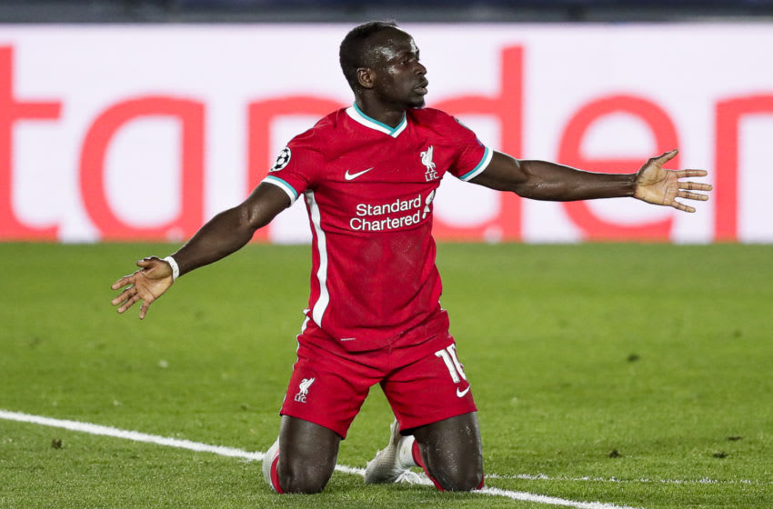 Sadio Mane was frustrated in Liverpool's loss to Real Madrid