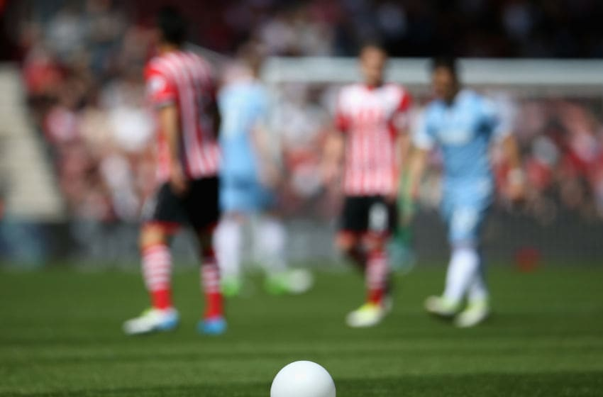 SOUTHAMPTON, ENGLAND - MAY 21: A balloon is seen during the Premier League match between Southampton and Stoke City at St Mary's Stadium on May 21, 2017 in Southampton, England. (Photo by Steve Bardens/Getty Images)