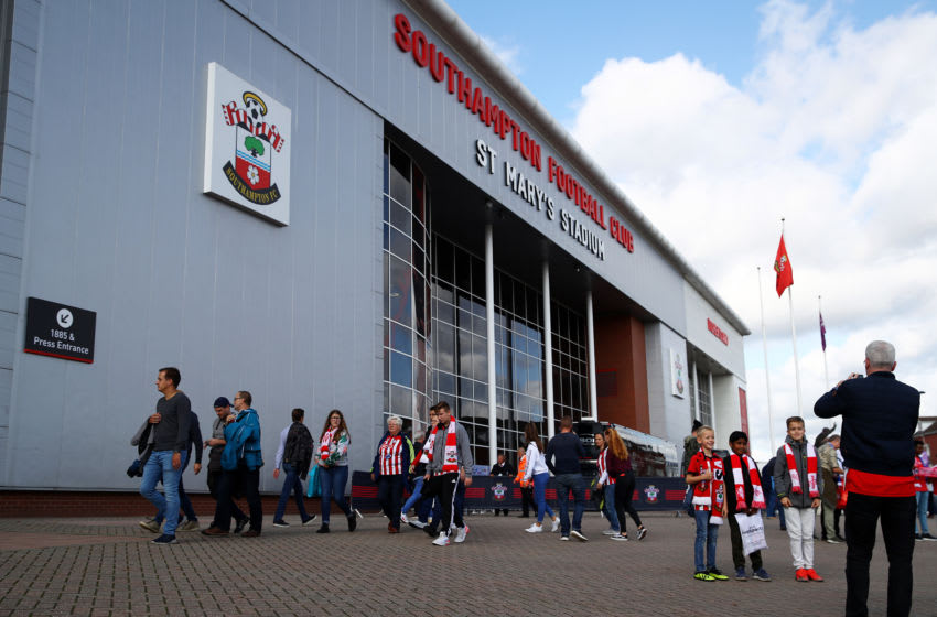 SOUTHAMPTON, ENGLAND - OCTOBER 06: General view outside the stadium prior to the Premier League match between Southampton FC and Chelsea FC at St Mary's Stadium on October 06, 2019 in Southampton, United Kingdom. (Photo by Julian Finney/Getty Images)
