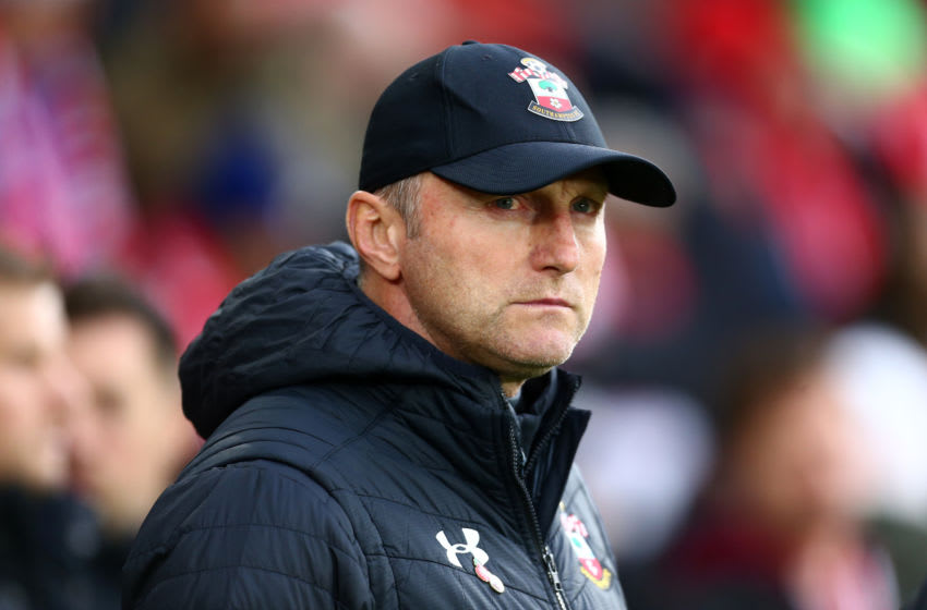 SOUTHAMPTON, ENGLAND - NOVEMBER 09: Ralph Hasenhuttl, Manager of Southampton looks on prior to the Premier League match between Southampton FC and Everton FC at St Mary's Stadium on November 09, 2019 in Southampton, United Kingdom. (Photo by Jordan Mansfield/Getty Images)