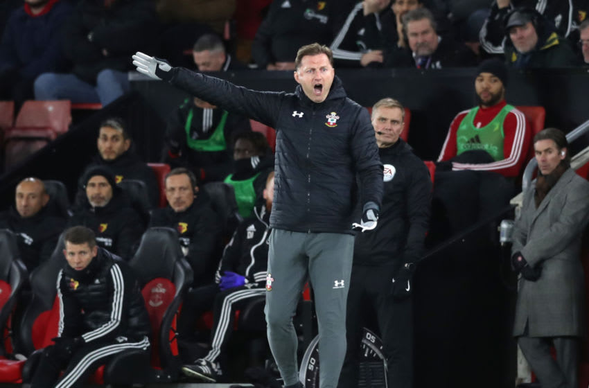SOUTHAMPTON, ENGLAND - NOVEMBER 30: Ralph Hasenhuttl, Manager of Southampton during the Premier League match between Southampton FC and Watford FC at St Mary's Stadium on November 30, 2019 in Southampton, United Kingdom. (Photo by Naomi Baker/Getty Images)