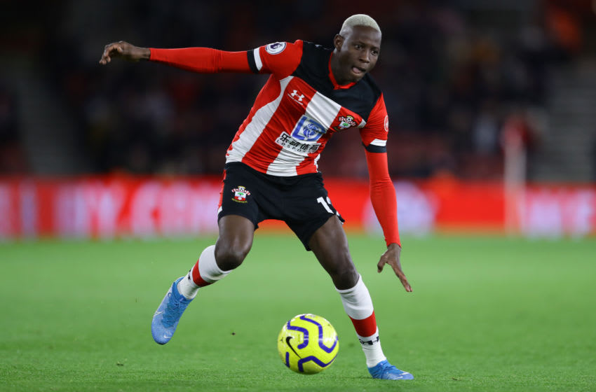 SOUTHAMPTON, ENGLAND - NOVEMBER 30: Moussa Djenepo of Southampton in action during the Premier League match between Southampton FC and Watford FC at St Mary's Stadium on November 30, 2019 in Southampton, United Kingdom. (Photo by Richard Heathcote/Getty Images)