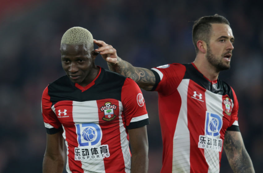 SOUTHAMPTON, ENGLAND - DECEMBER 04: Moussa Djenepo and Danny Ings of Southampton during the Premier League match between Southampton FC and Norwich City at St Mary's Stadium on December 04, 2019 in Southampton, United Kingdom. (Photo by Robin Jones/Getty Images)