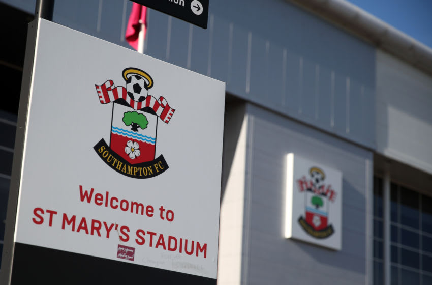 SOUTHAMPTON, ENGLAND - JANUARY 18: A general view of St Marys Stadium home of Southampton during the Premier League match between Southampton FC and Wolverhampton Wanderers at St Mary's Stadium on January 18, 2020 in Southampton, United Kingdom. (Photo by Matthew Ashton - AMA/Getty Images)