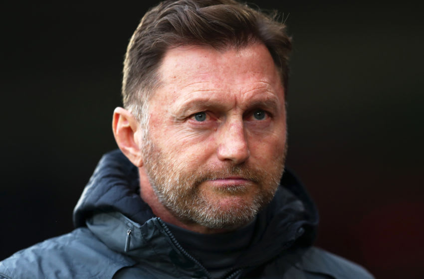 SOUTHAMPTON, ENGLAND - JANUARY 01: Ralph Hasenhuttl, Manager of Southampton looks on prior to the Premier League match between Southampton FC and Tottenham Hotspur at St Mary's Stadium on January 01, 2020 in Southampton, United Kingdom. (Photo by Dan Istitene/Getty Images)