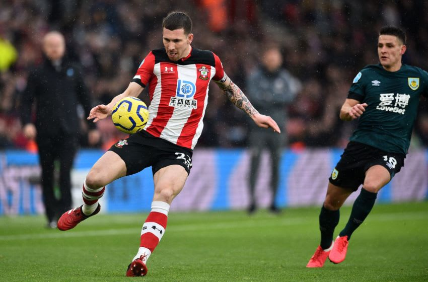 Southampton's Danish midfielder Pierre-Emile Hojbjerg controls the ball during the English Premier League football match between Southampton and Burnley at St Mary's Stadium in Southampton, southern England on February 15, 2020. (Photo by Glyn KIRK / AFP) / RESTRICTED TO EDITORIAL USE. No use with unauthorized audio, video, data, fixture lists, club/league logos or 'live' services. Online in-match use limited to 120 images. An additional 40 images may be used in extra time. No video emulation. Social media in-match use limited to 120 images. An additional 40 images may be used in extra time. No use in betting publications, games or single club/league/player publications. / (Photo by GLYN KIRK/AFP via Getty Images)