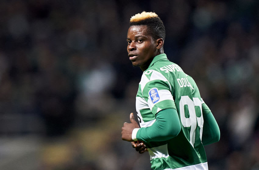 BRAGA, PORTUGAL - JANUARY 21: Idrissa Doumbia of Sporting CP looks on during the Taca da Liga - Allianz CUP semifinal match between SC Braga and Sporting CP at Estadio Municipal de Braga on January 21, 2020 in Braga, Portugal. (Photo by Quality Sport Images/Getty Images)