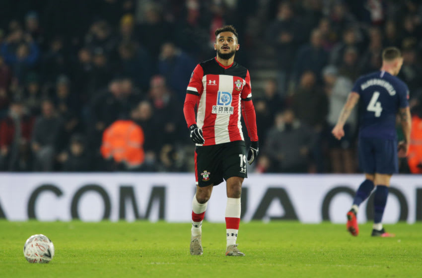SOUTHAMPTON, ENGLAND - JANUARY 25: Sofiane Boufal of Southampton after he scores a goal to make it 1-1 during the FA Cup Fourth Round match between Southampton and Tottenham Hotspur at St. Mary's Stadium on January 25, 2020 in Southampton, England. (Photo by Robin Jones/Getty Images)