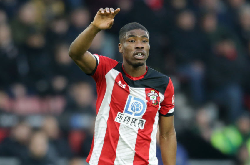 SOUTHAMPTON, ENGLAND - JANUARY 25: Kevin Danso of Southampton during the FA Cup Fourth Round match between Southampton and Tottenham Hotspur at St. Mary's Stadium on January 25, 2020 in Southampton, England. (Photo by Robin Jones/Getty Images)