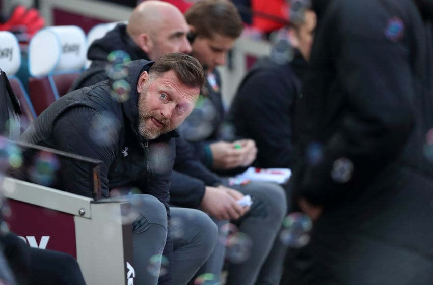 LONDON, ENGLAND - FEBRUARY 29: Southampton manager / head coach Ralph Hasenhuttl during the Premier League match between West Ham United and Southampton FC at London Stadium on February 29, 2020 in London, United Kingdom. (Photo by James Williamson - AMA/Getty Images)