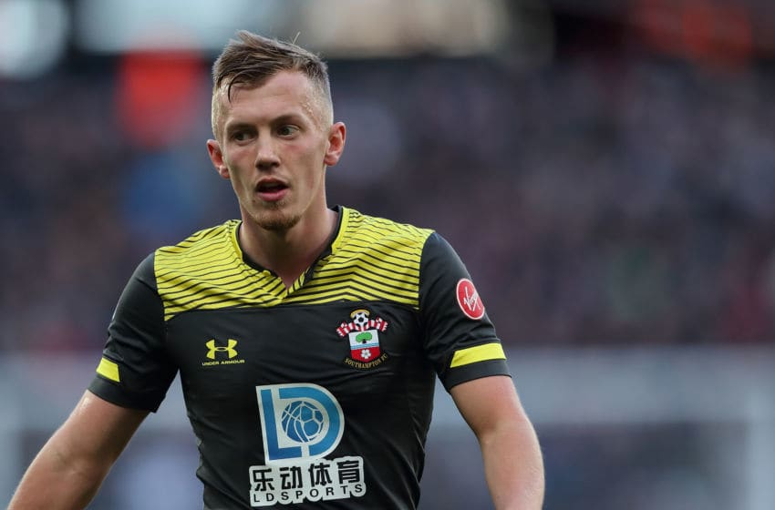 LONDON, ENGLAND - FEBRUARY 29: James Ward-Prowse of Southampton during the Premier League match between West Ham United and Southampton FC at London Stadium on February 29, 2020 in London, United Kingdom. (Photo by James Williamson - AMA/Getty Images)