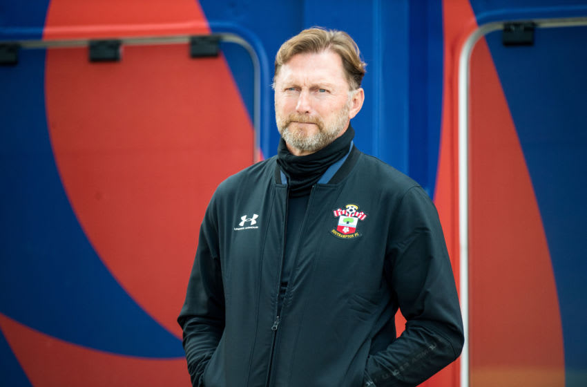 LONDON, ENGLAND - SEPTEMBER 12: Manager Ralph Hasenhuttl of Southampton looks on during the Premier League match between Crystal Palace and Southampton at Selhurst Park on September 12, 2020 in London, United Kingdom. (Photo by Sebastian Frej/MB Media/Getty Images)