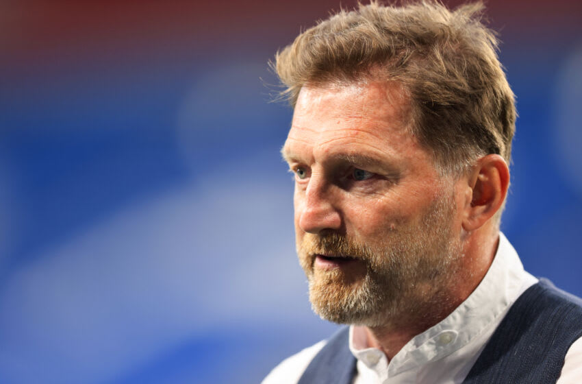 CARDIFF, WALES - JULY 27: Ralph Hasenhuttl the head coach / manager of Southampton during the Pre-Season Friendly match between Cardiff City and Southampton at Cardiff City Stadium on July 27, 2021 in Cardiff, Wales. (Photo by Matthew Ashton - AMA/Getty Images)