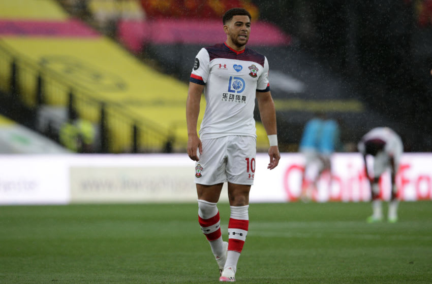 WATFORD, ENGLAND - JUNE 28: Che Adams of Southampton during the Premier League match between Watford FC and Southampton FC at Vicarage Road on June 28, 2020 in Watford, England. (Photo by Robin Jones/Getty Images)