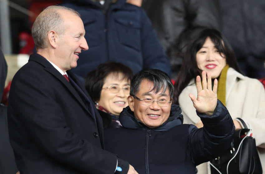 SOUTHAMPTON, ENGLAND - DECEMBER 10: Ralph Krueger, Chairman of Southampton and Gao Jisheng, Southampton club owner prior to the Premier League match between Southampton and Arsenal at St Mary's Stadium on December 10, 2017 in Southampton, England. (Photo by Catherine Ivill/Getty Images)