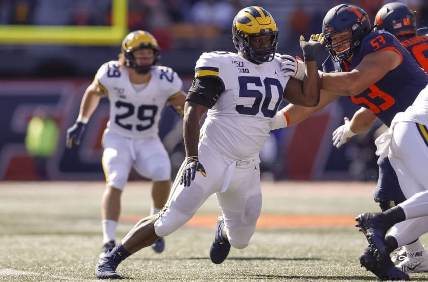 Michael Dwumfour, Michigan football (Photo by Michael Hickey/Getty Images)