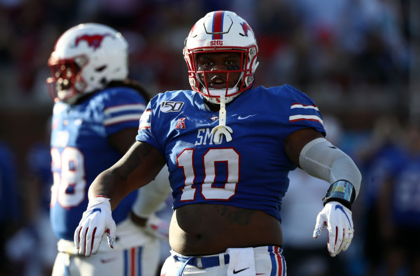 DALLAS, TEXAS - OCTOBER 19: Demerick Gary #10 of the Southern Methodist Mustangs at Gerald J. Ford Stadium on October 19, 2019 in Dallas, Texas. (Photo by Ronald Martinez/Getty Images)