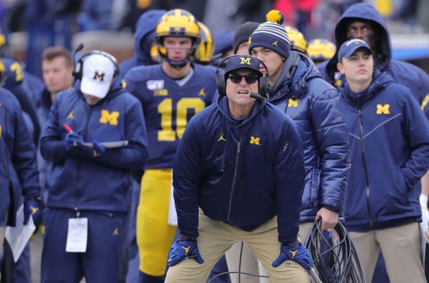 Jim Harbaugh, Michigan football (Photo by Leon Halip/Getty Images)
