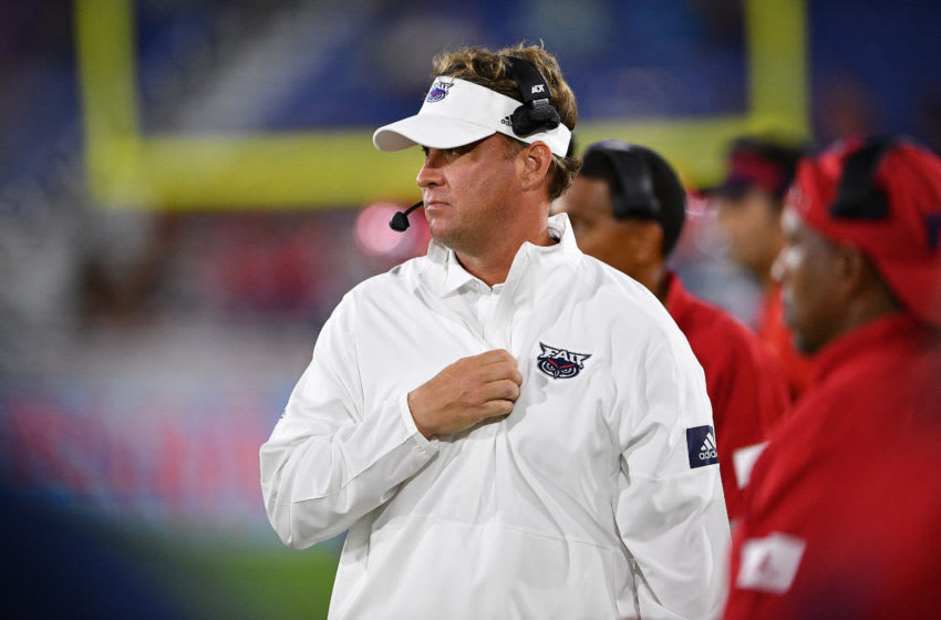BOCA RATON, FLORIDA - NOVEMBER 30: Head Coach Lane Kiffin of the Florida Atlantic Owls in action against the Southern Miss Golden Eagles in the second half at FAU Stadium on November 30, 2019 in Boca Raton, Florida. (Photo by Mark Brown/Getty Images)