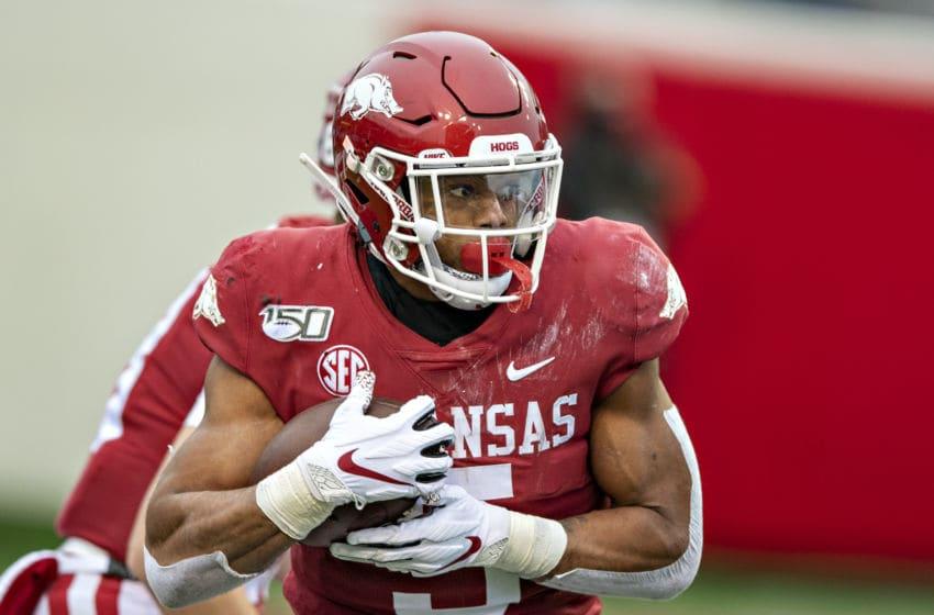 Rakeem Boyd, Arkansas football (Photo by Wesley Hitt/Getty Images)