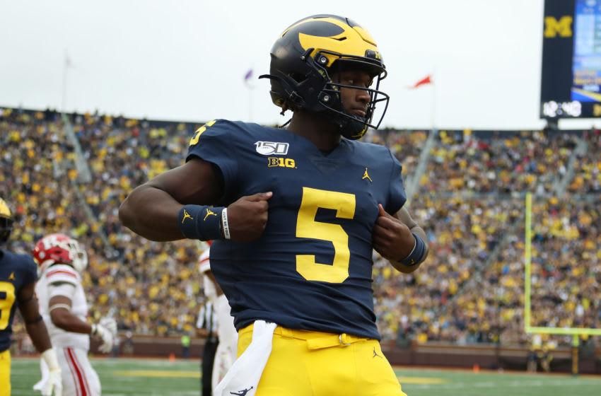 Joe Milton, Michigan football (Photo by Gregory Shamus/Getty Images)