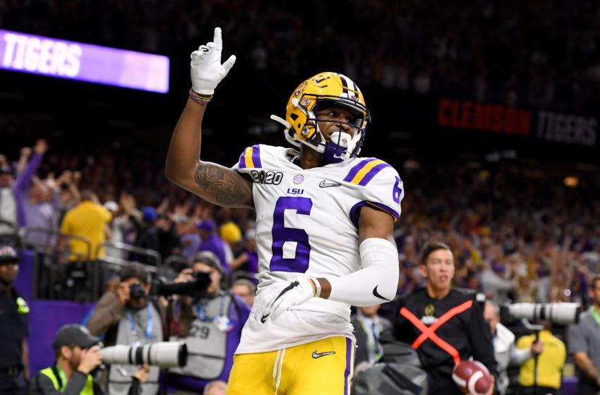 Terrace Marshall Jr., LSU football (Photo by Jamie Schwaberow/Getty Images)