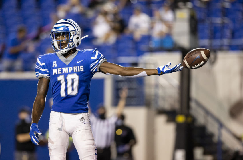 Damonte Coxie, Memphis football (Photo by Brett Carlsen/Getty Images)