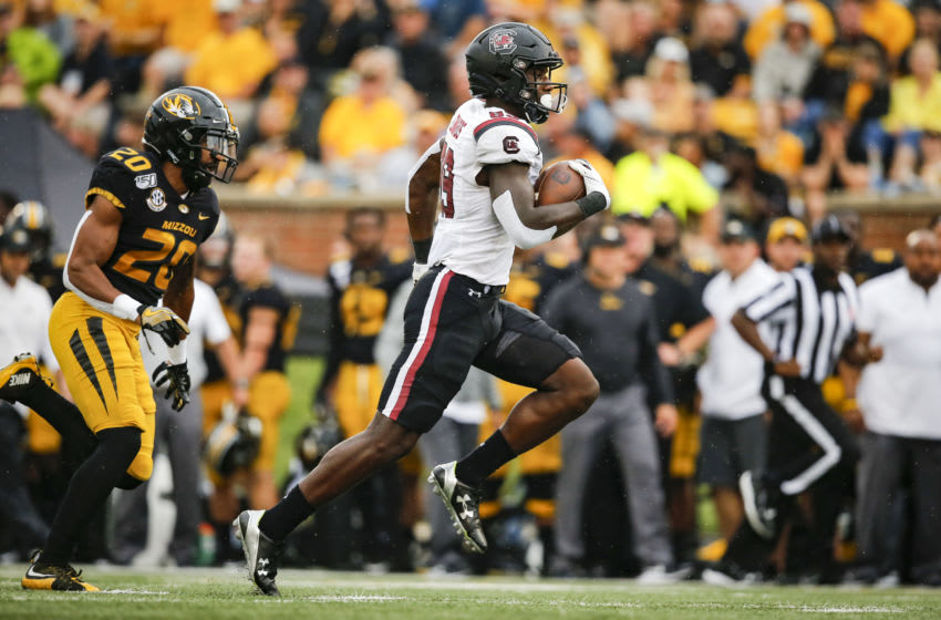 Bryan Edwards, South Carolina football (Photo by David Eulitt/Getty Images)
