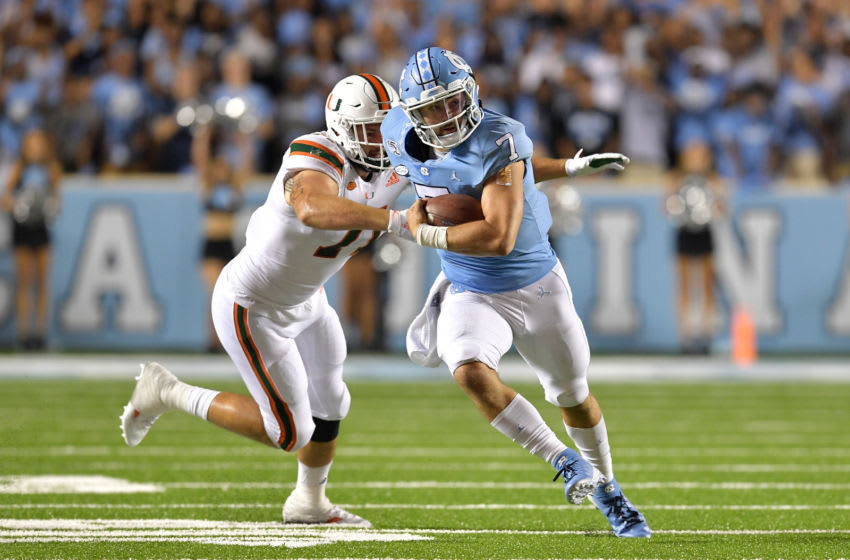 Sam Howell, North Carolina football (Photo by Grant Halverson/Getty Images)