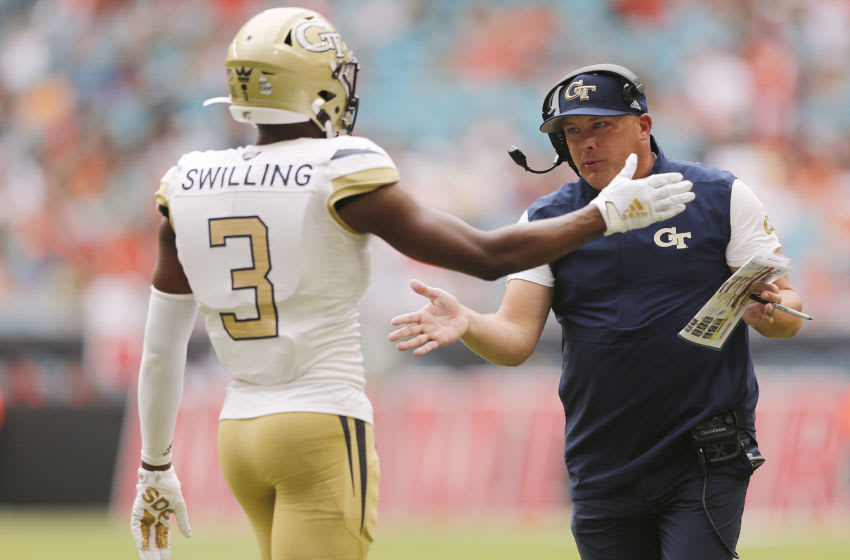 Tre Swilling, Georgia Tech football (Photo by Michael Reaves/Getty Images)