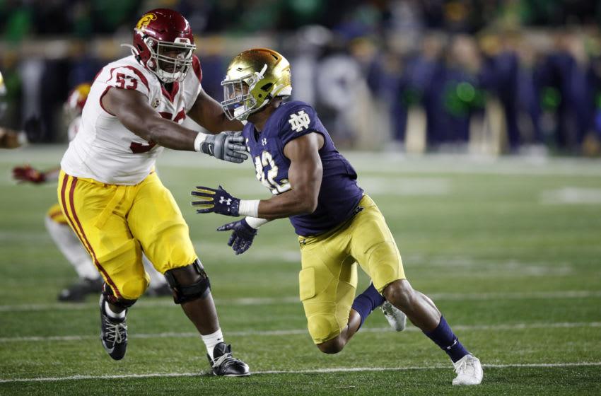 Julian Okwara, Notre Dame Football (Photo by Joe Robbins/Getty Images)