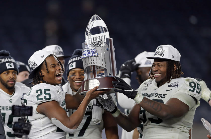 Darrell Stewart Jr and Raequan Williams, Michigan State football (Photo by Adam Hunger/Getty Images)