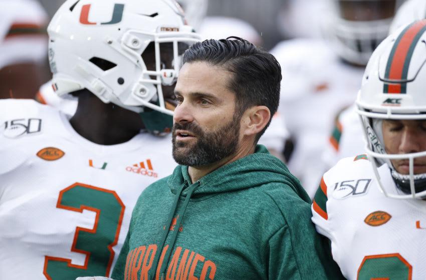 Manny Diaz, Miami football (Photo by Joe Robbins/Getty Images)