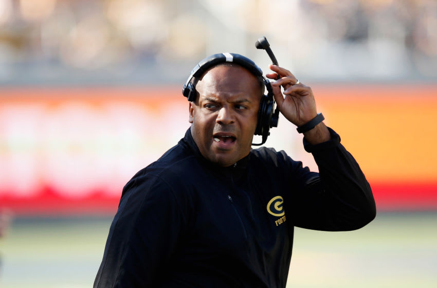 BERKELEY, CA - SEPTEMBER 05: Head coach Broderick Fobbs of the Grambling State Tigers stands on the sidelines during their game against the California Golden Bears at California Memorial Stadium on September 5, 2015 in Berkeley, California. (Photo by Ezra Shaw/Getty Images)