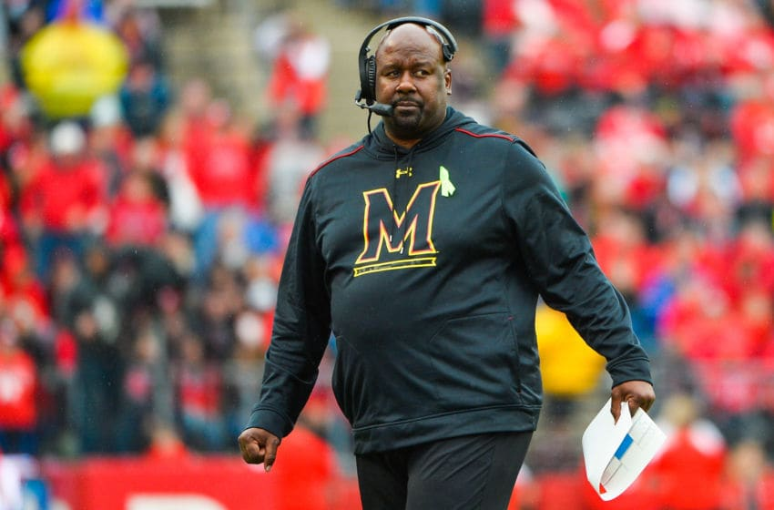 Mike Locksley, Maryland football (Photo by Alex Goodlett/Getty Images)