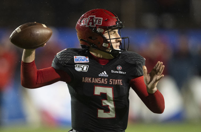 Layne Hatcher, Arkansas State football (Photo by Michael Chang/Getty Images)