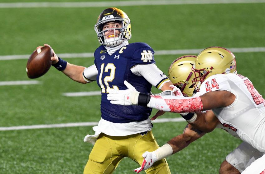 Ian Book, Notre Dame football Mandatory Credit: Brian Fluharty-USA TODAY Sports