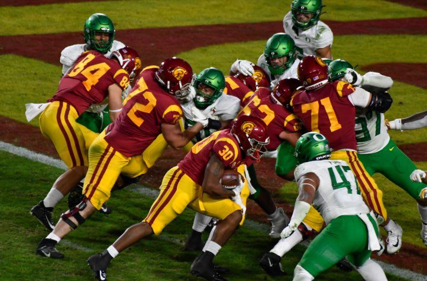 Markese Stepp, USC football. Mandatory Credit: Robert Hanashiro-USA TODAY Sports