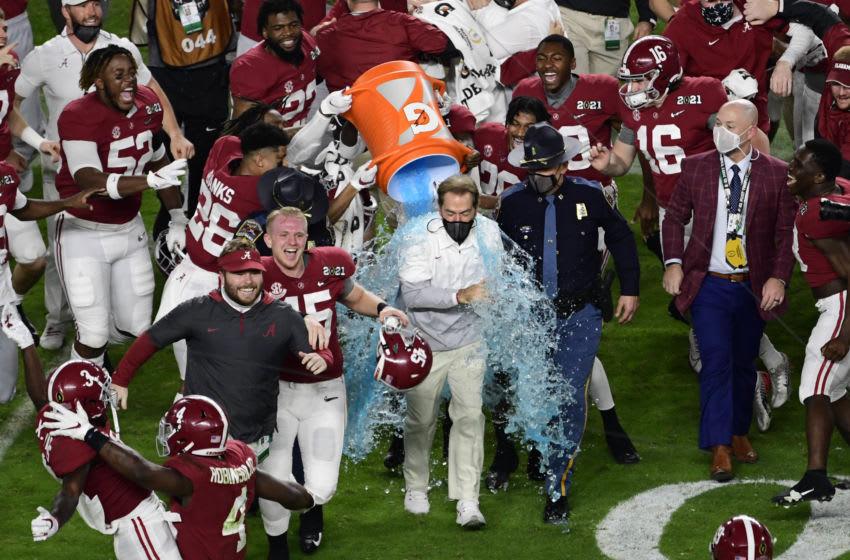 Nick Saban, Alabama football. Mandatory Credit: Douglas DeFelice-USA TODAY Sports