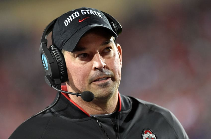 EVANSTON, ILLINOIS - OCTOBER 18: Head coach Ryan Day of the Ohio State Buckeyes looks on in the first quarter against the Northwestern Wildcats at Ryan Field on October 18, 2019 in Evanston, Illinois. (Photo by Quinn Harris/Getty Images)