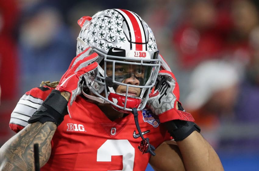 GLENDALE, ARIZONA - DECEMBER 28: Defensive end Chase Young #2 of the Ohio State Buckeyes warms up before the PlayStation Fiesta Bowl against the Clemson Tigers at State Farm Stadium on December 28, 2019 in Glendale, Arizona. The Tigers defeated the Buckeyes 29-23. (Photo by Christian Petersen/Getty Images)